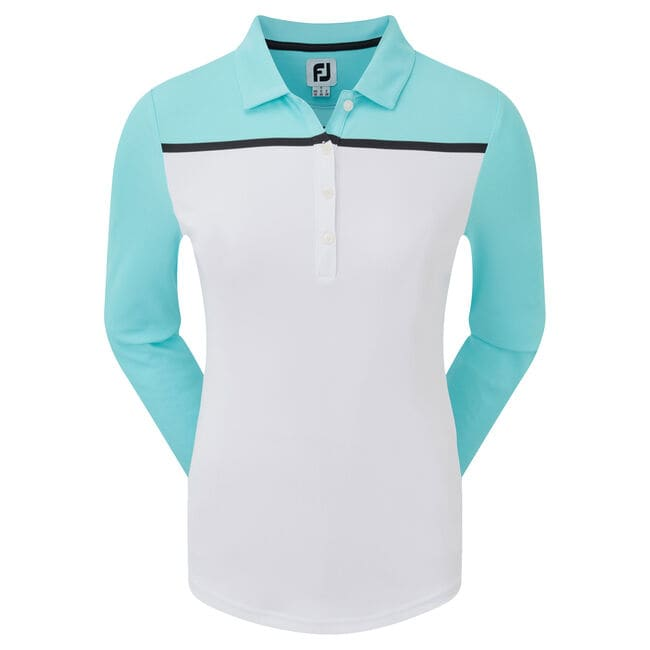 Smooth Pique Long Sleeved Colour Block Women