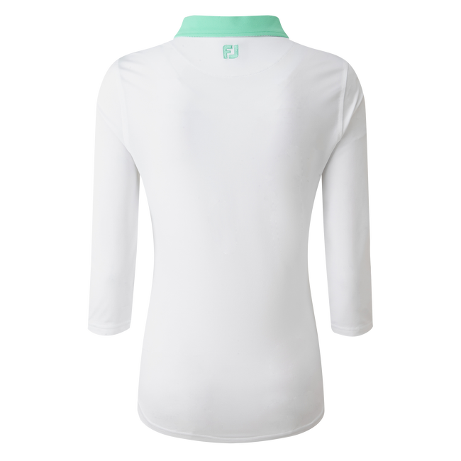 Women's Baby Pique 3/4 Sleeve Shirt with Contrast Trim