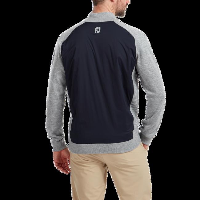 Wool Blend Tech Full-Zip Sweater
