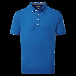 Polo Fil d'Écosse uni avec bordure contrastante et col boutonné