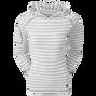 Pullover Hoodie in Jersey Tonal Melange Stripe
