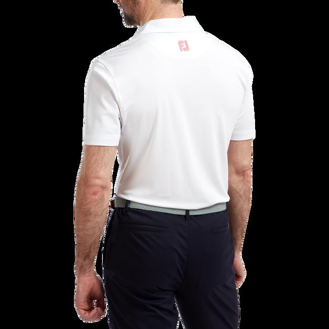 Polo technique en fil d'Ecosse avec bandes sur la poitrine