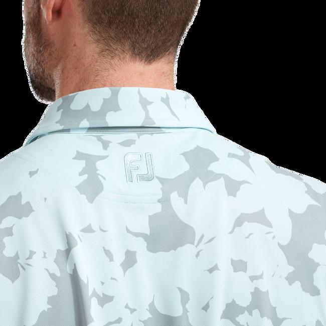 Polo imprimé camouflage floral