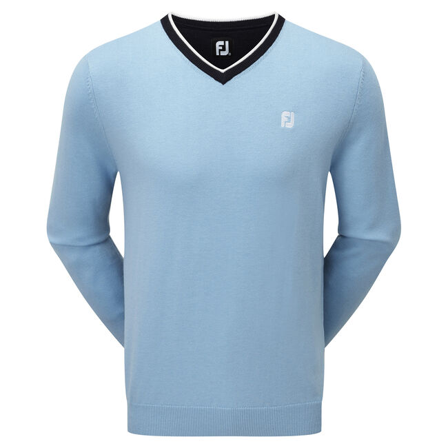 Wool Blend V-Neck Pullover-Previous Season Style