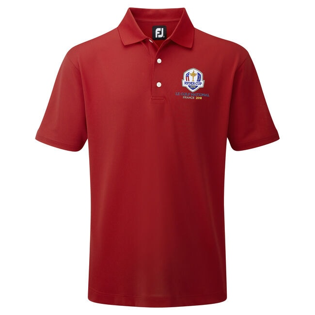 2018 Ryder Cup Stretch Pique Solid Knit Collar