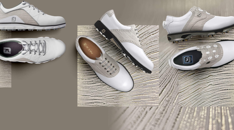 FootJoy Design My Own MyJoys Custom Golf Shoes - Gold Rush Leather